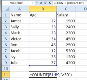 Count cells that match a condition