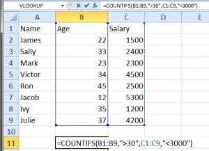 CountIFS to count cells with multiple criteria cells.